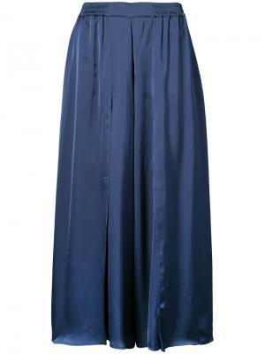 Укороченные широкие брюки Just Female. Цвет: синий