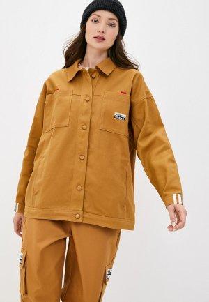 Куртка adidas Originals. Цвет: коричневый