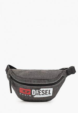 Сумка поясная Diesel. Цвет: серый
