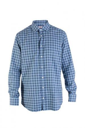 Рубашка LUCIANO BARBERA. Цвет: голубой
