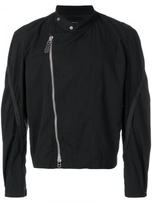 Классическая байкерская куртка Homme Plissé Issey Miyake. Цвет: чёрный