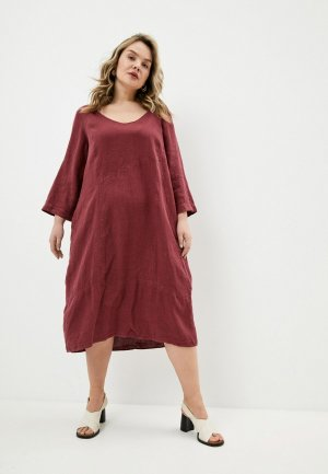 Платье Elena Miro. Цвет: бордовый
