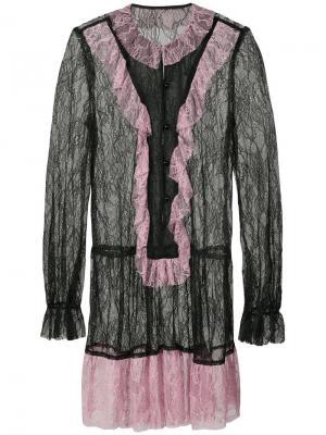 Кружевное платье с приспущенной талией Anna Sui. Цвет: чёрный
