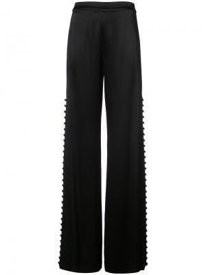 Широкие брюки с пуговицами по бокам Alexis. Цвет: чёрный