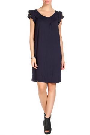 Платье HOTEL PARTICULIER. Цвет: темно-синий