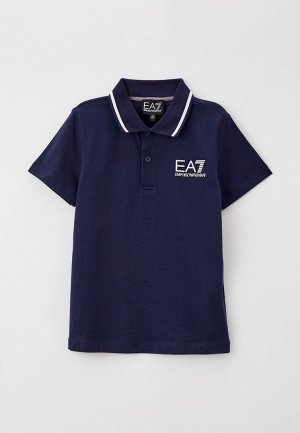Поло EA7. Цвет: синий
