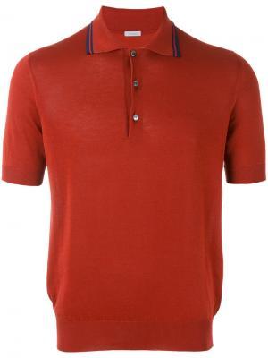 Классическая футболка-поло Malo. Цвет: красный