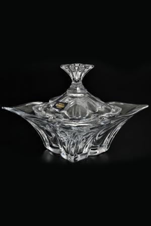 Конфетница с крышкой 20 см Crystalite Bohemia. Цвет: прозрачный