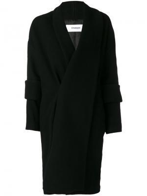 Удлиненное пальто с двойными манжетами Chalayan. Цвет: чёрный