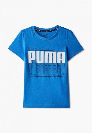 Футболка PUMA. Цвет: голубой