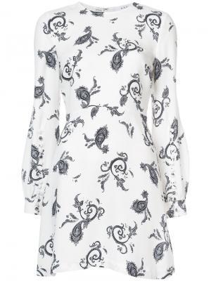 Платье с узором A.L.C.. Цвет: белый