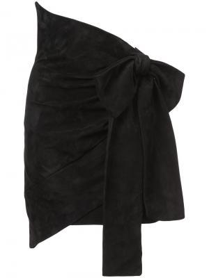 Юбка с большим бантом Saint Laurent. Цвет: чёрный