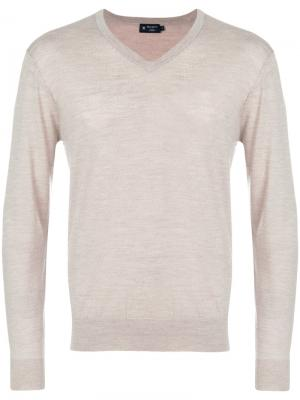 V-neck sweater Hackett. Цвет: телесный