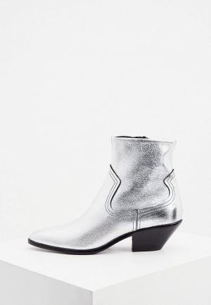 Ботинки Bimba Y Lola. Цвет: серебряный
