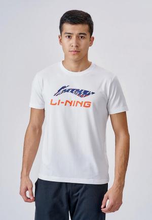 Футболка Li-Ning. Цвет: белый