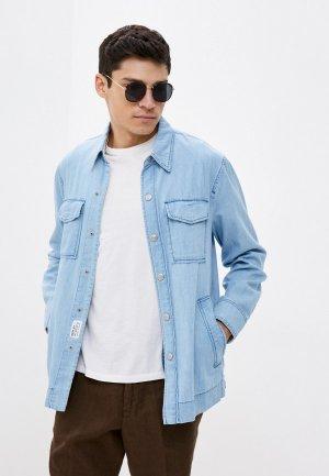 Рубашка джинсовая Replay. Цвет: голубой