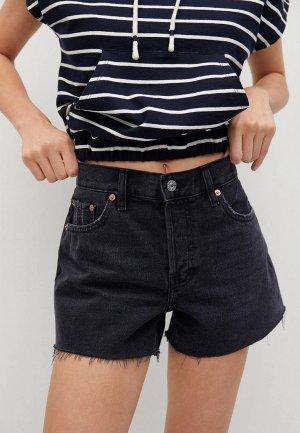 Шорты джинсовые Mango. Цвет: черный