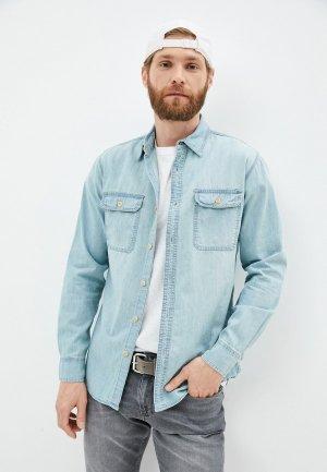 Рубашка джинсовая OVS. Цвет: голубой