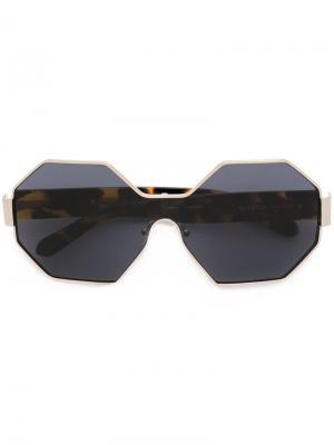 Солнцезащитные очки Star City Karen Walker Eyewear. Цвет: металлический