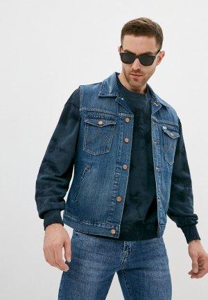 Жилет джинсовый Wrangler. Цвет: синий