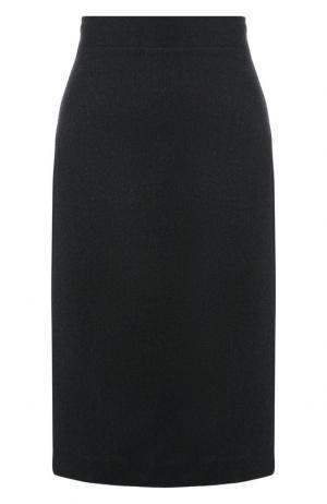 Кашемировая юбка-карандаш Kiton. Цвет: темно-зеленый