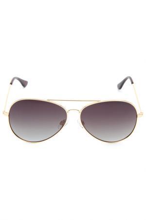 Солнцезащитные очки LEGNA. Цвет: светло-золотистый