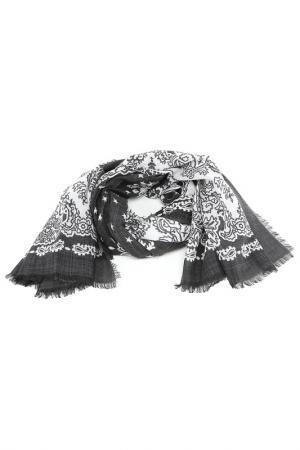 Платок Givenchy. Цвет: черно-белый