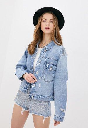 Шорты джинсовые Miss Sixty. Цвет: голубой