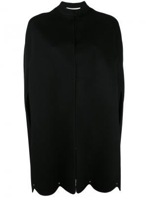 Пальто-кейп с заклепками Valentino. Цвет: чёрный