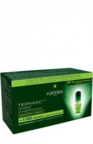Cыворотка от выпадения волос Triphasic (8 ампул) Rene Furterer. Цвет: бесцветный