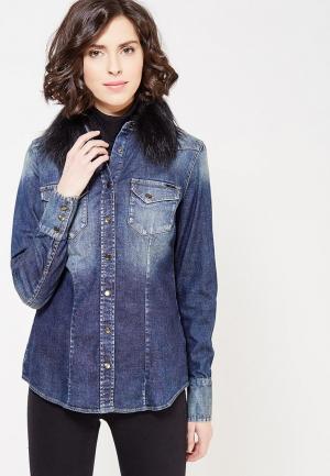 Рубашка джинсовая Gas. Цвет: синий