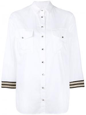 Рубашка с вышивкой на рукавах Ballantyne. Цвет: белый