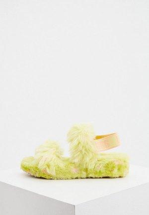Сандалии UGG. Цвет: зеленый