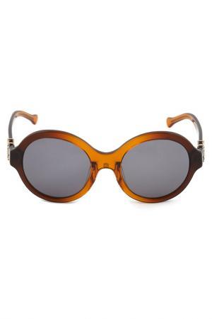 Солнцезащитные очки LOEWE. Цвет: коричневый