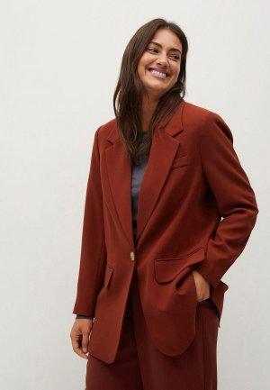 Пиджак Violeta by Mango. Цвет: коричневый