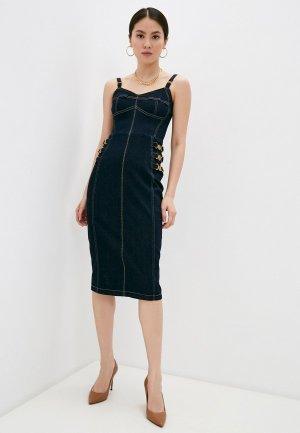 Платье джинсовое Elisabetta Franchi. Цвет: синий