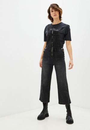Комбинезон джинсовый Pepe Jeans. Цвет: черный