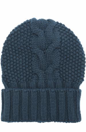 Шапка фактурной вязки из кашемира Kashja` Cashmere. Цвет: темно-зеленый