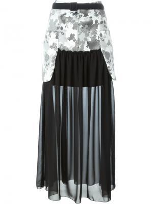 Юбка макси с панельным дизайном  IM Isola Marras I'M. Цвет: чёрный