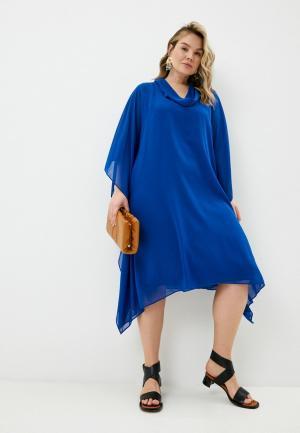 Платье Elena Miro. Цвет: синий