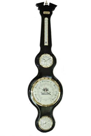 Часы-метеостанция Русские подарки. Цвет: черный