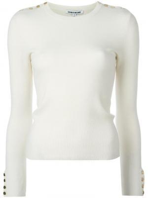 Трикотажная блузка Gabrielle Elizabeth And James. Цвет: белый