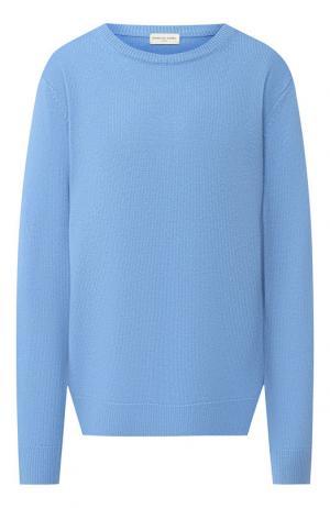 Кашемировый пуловер с круглым вырезом Dries Van Noten. Цвет: голубой