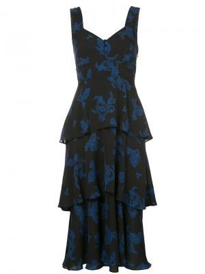 Платье с ярусами из оборок A.L.C.. Цвет: чёрный