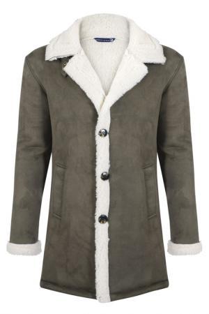 Sheepskin coat GIORGIO DI MARE. Цвет: khaki