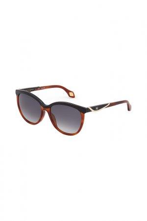 Очки солнцезащитные CAROLINA HERRERA NEW YORK. Цвет: коричневый