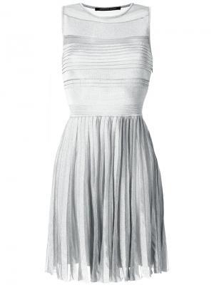 Плиссированное платье металлик Antonino Valenti. Цвет: металлический