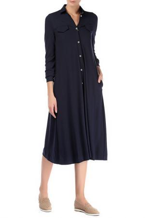 Платье Colletto Bianco. Цвет: синий