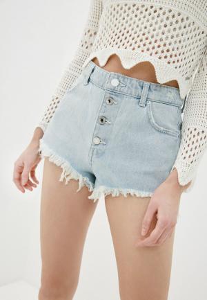 Шорты джинсовые Guess Jeans. Цвет: голубой