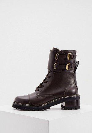Ботинки See by Chloe. Цвет: коричневый